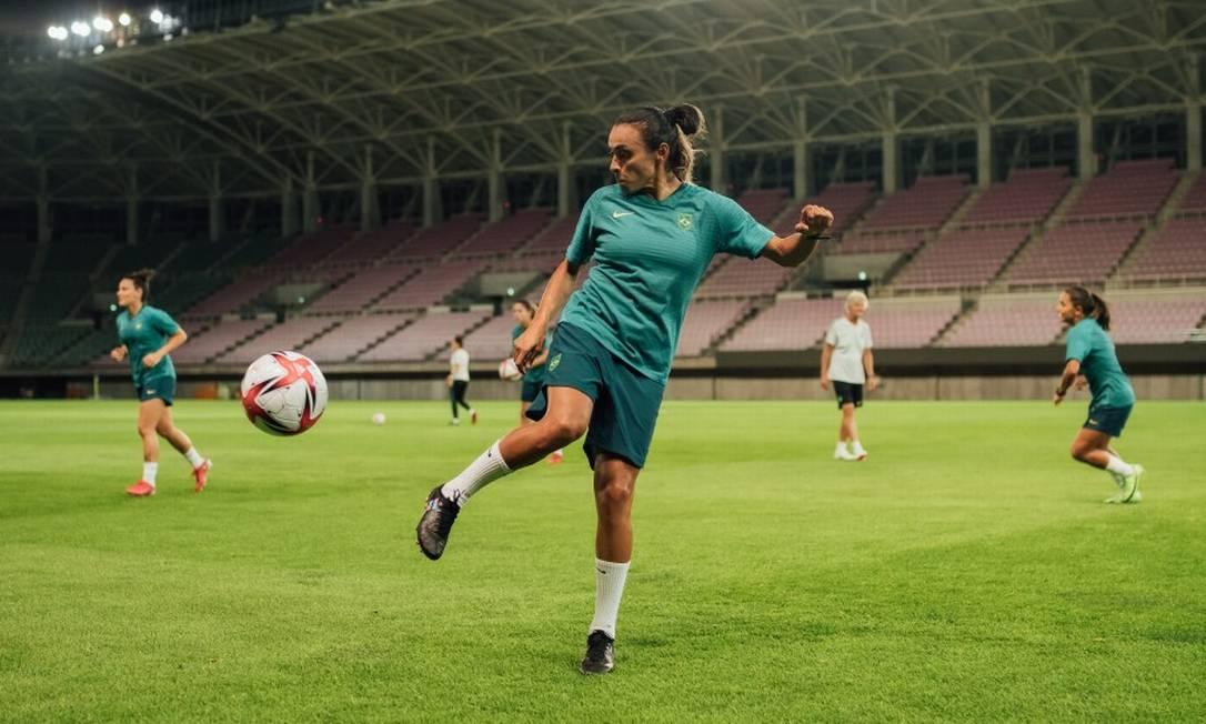 Marta é a principal estrela da seleção feminina de futebol e está nos Jogos de Tóquio Foto: Sam Robles/CBF