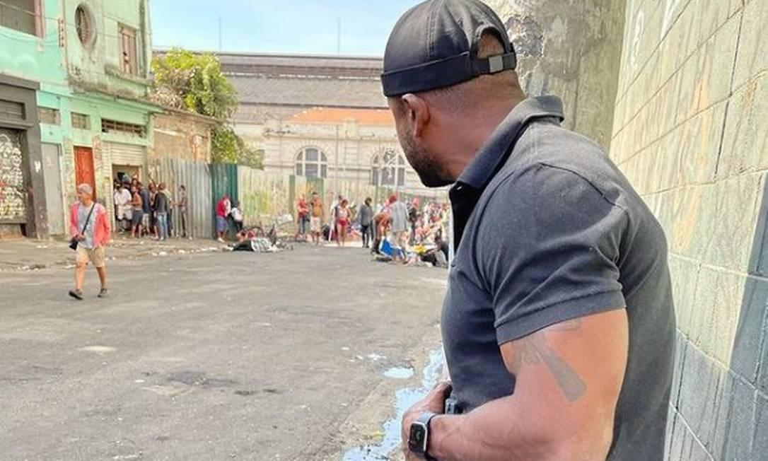 A foto postada pelo delegado Da Cunha citando operação que a Secretaria de Segurança de SP nega ter acontecido Foto: Instagram / Reprodução