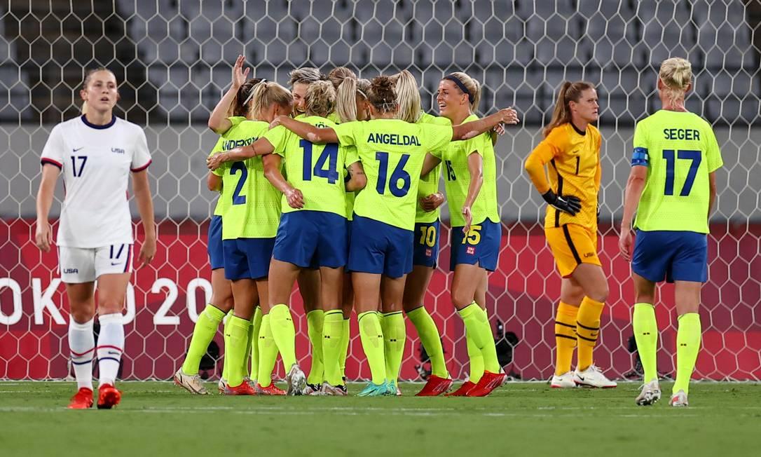 Suécia bate os EUA na estreia em Tóquio Foto: EDGAR SU / REUTERS