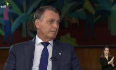 Bolsonaro na TV Brasil Foto: Reprodução