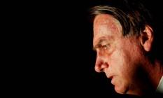 O presidente Jair Bolsonaro, após visita ao STF Foto: Adriano Machado/Reuters/12-07-2021