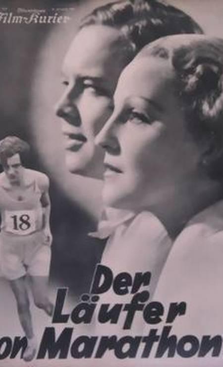 Produção alemã de 1933, 'The Marathon Runner' se baseia em um romance de Werner Scheff e aborda o triângulo amoroso entre três atletas que competem em LOS ANGELES-1932. Foto: Divulgação