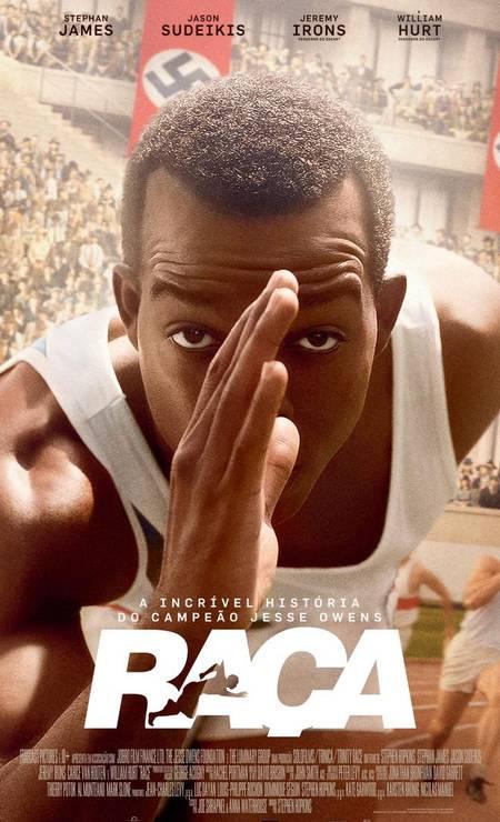 Lançado em 2016, 'Race' — 'Raça', em português — é uma biografia de Jesse Owens, atleta negro americano que ganhou quatro medalhas de ouro em BERLIM-1936, e superou corredores arianos durante o regime nazista de Adolf Hitler. Foto: Divulgação
