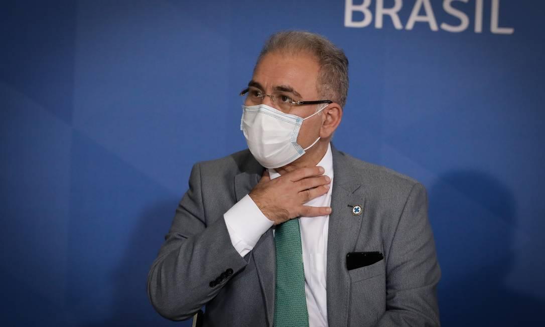 Ministro Marcelo Queiroga Foto: Pablo Jacob / Agência O Globo