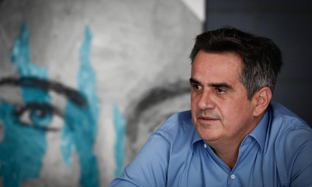 O senador Ciro Nogueira (PP-CI), durante entrevista Foto: Pablo Jacob/Agência O Globo/09-03-2021