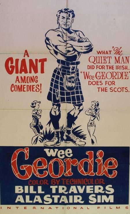 O filme britânico 'Wee Geordie', de 1955, retrata um pequeno escocês que se torna um forte atleta e consegue competir em MELBOURNE-1956. Foto: Divulgação