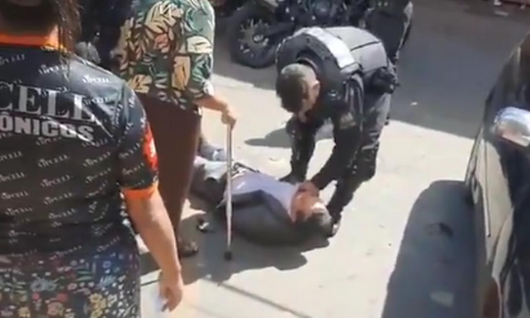 Vídeo de agressão a advogado por PM em Goiânia repercute Foto: Reprodução
