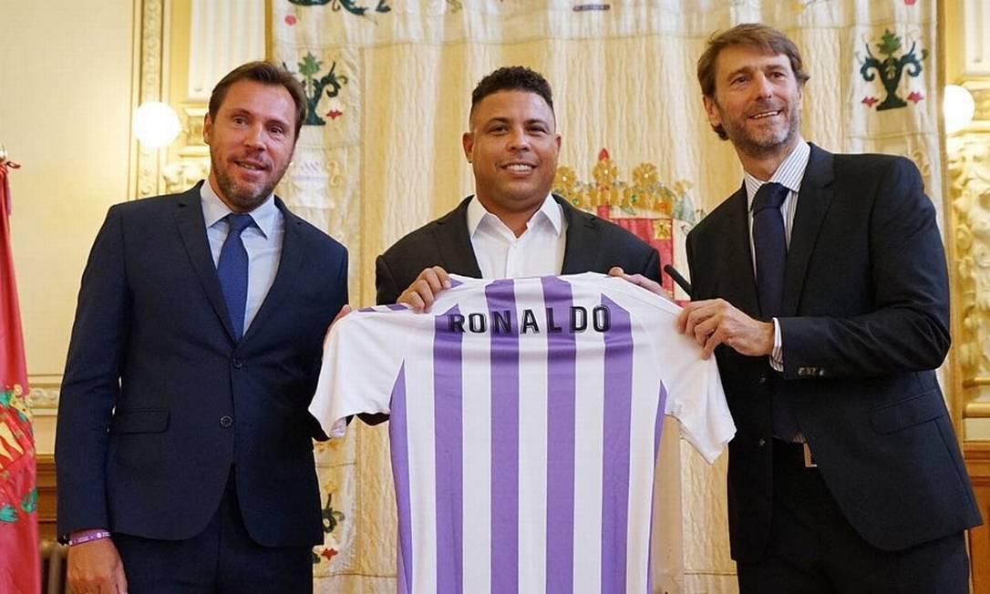 Ronaldo Fenômeno, ao ter comprado 51% do clube espanhol Real Valladolid Foto: Arquivo