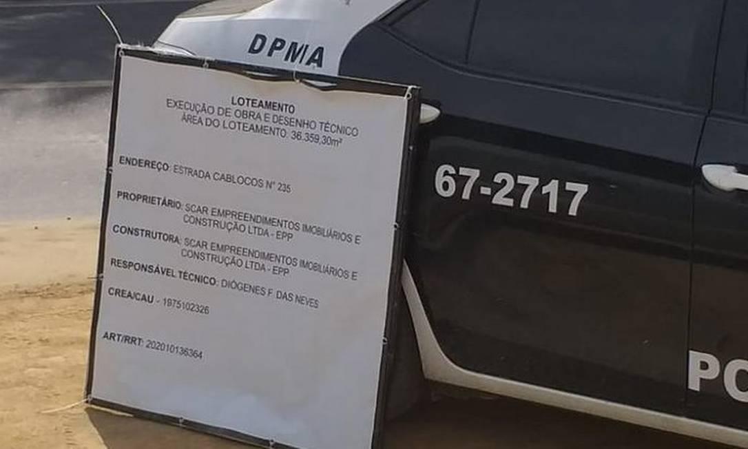 A DPMA prendeu um homem responsável por vários loteamentos clandestinos em Campo Grande Foto: Divulgação