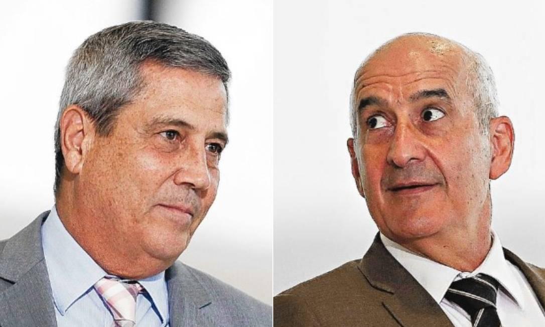 Walter Braga Netto e Luiz Eduardo Ramos Foto: Agência O Globo