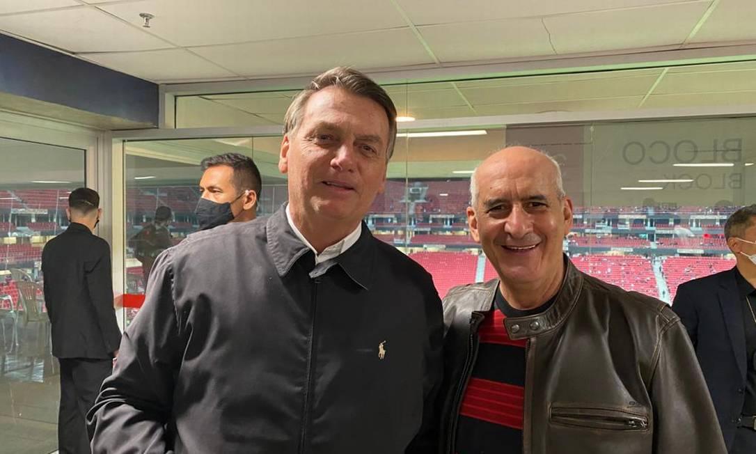 O ministro e general Luiz Eduardo Ramos acompanhou o jogo do Flamengo ao lado do presidente Jair Bolsonaro Foto: Reprodução/Twitter
