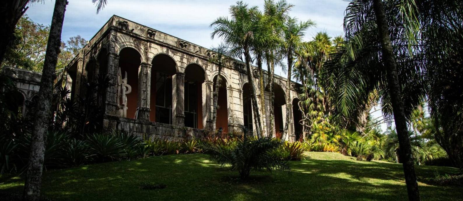 Casa onde o paisagista Roberto Burle Marx viveu de 1973 a 1985, quando sítio foi doado ao Iphan Foto: Hermes de Paula / Agência O Globo