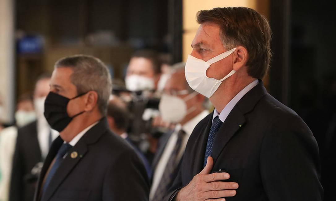 O presidente Jair Bolsonaro participa de cerimônia no Ministério da Defesa Foto: Marcos Correa / Marcos Corrêa/Presidência