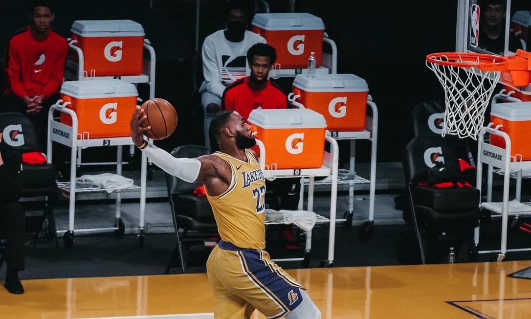 LeBron James joga pelo Lakers na NBA desde 2018 Foto: Instagram @kingjames / Reprodução