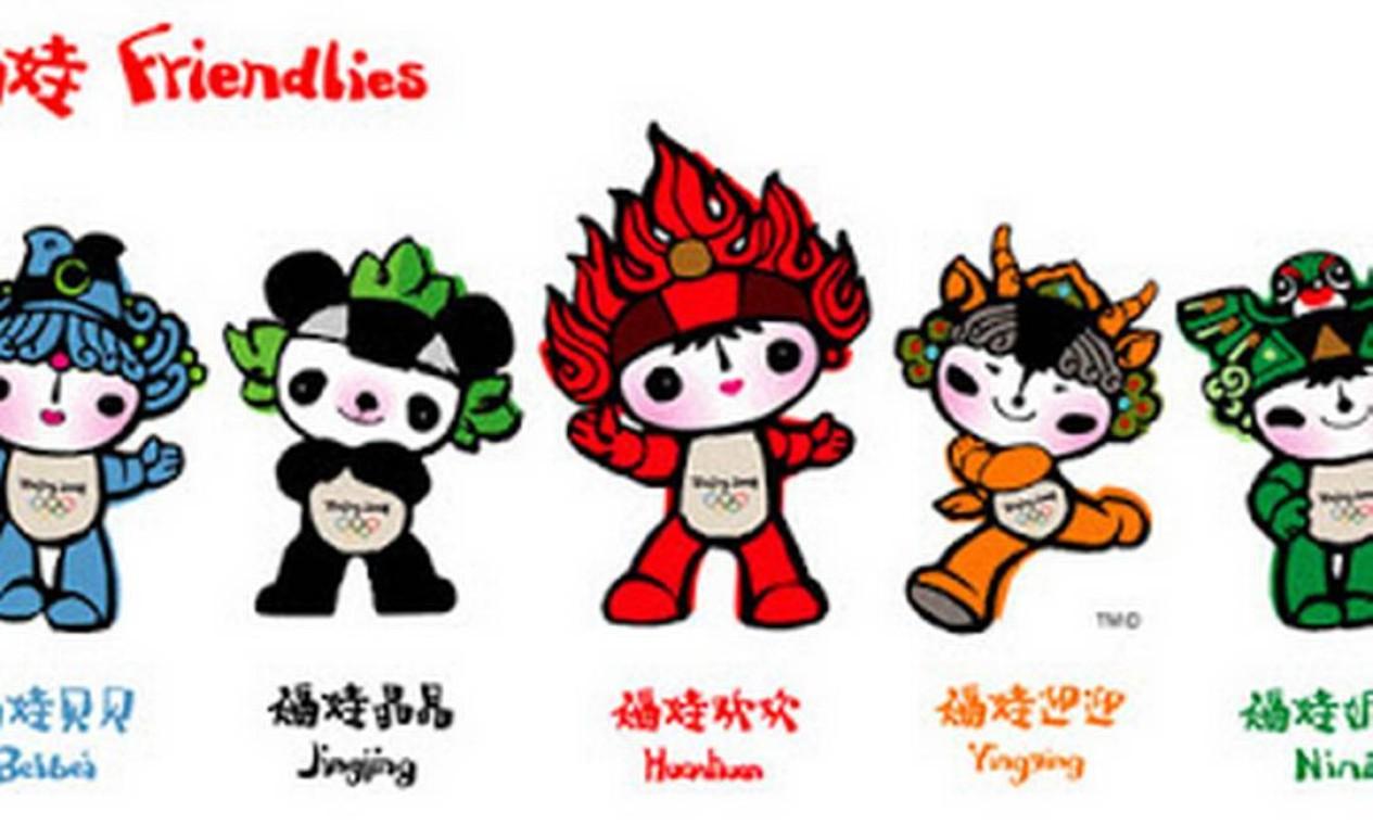 Pequim 2008: Beibei, Jingjing, Yingying, Nini e Huanhuan Foto: Reprodução