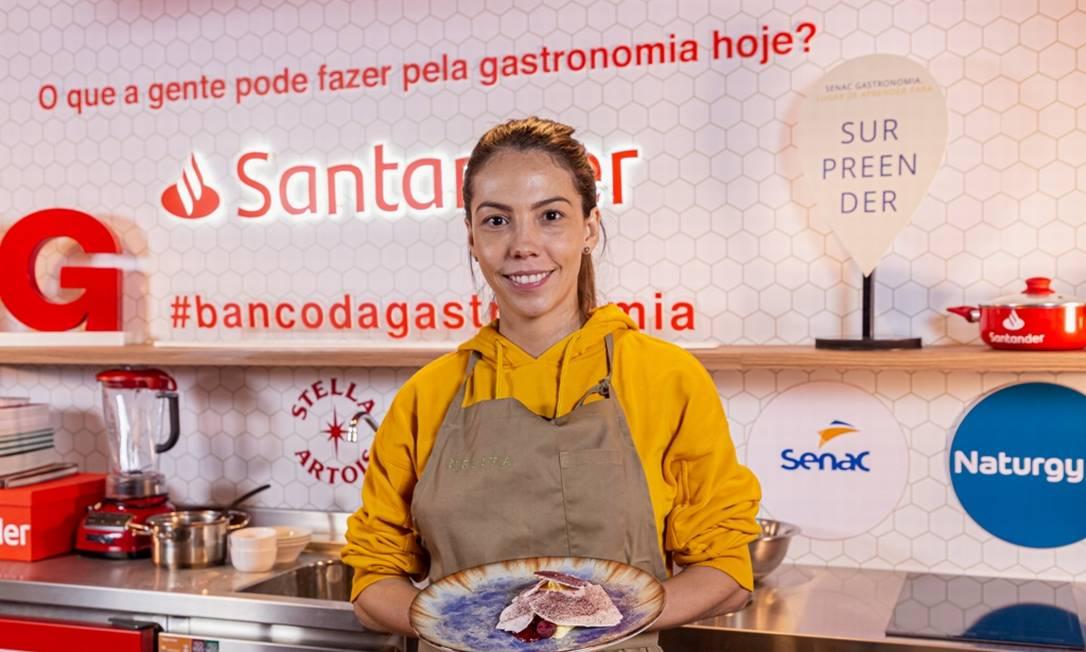 Tássia Magalhães: talento da gastronomia de São Paulo ensina a fazer curd de limão com manjericão e framboesa Foto: divulgação