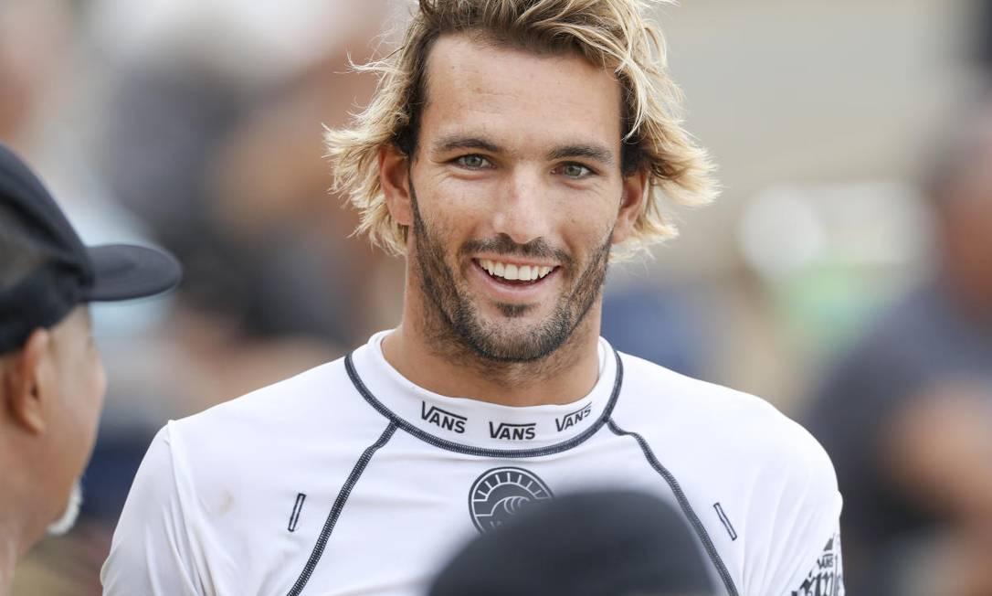 O surfista português Frederico Morais está fora da Olimpíada de Tóquio Foto: WSL / KELLY CESTARI