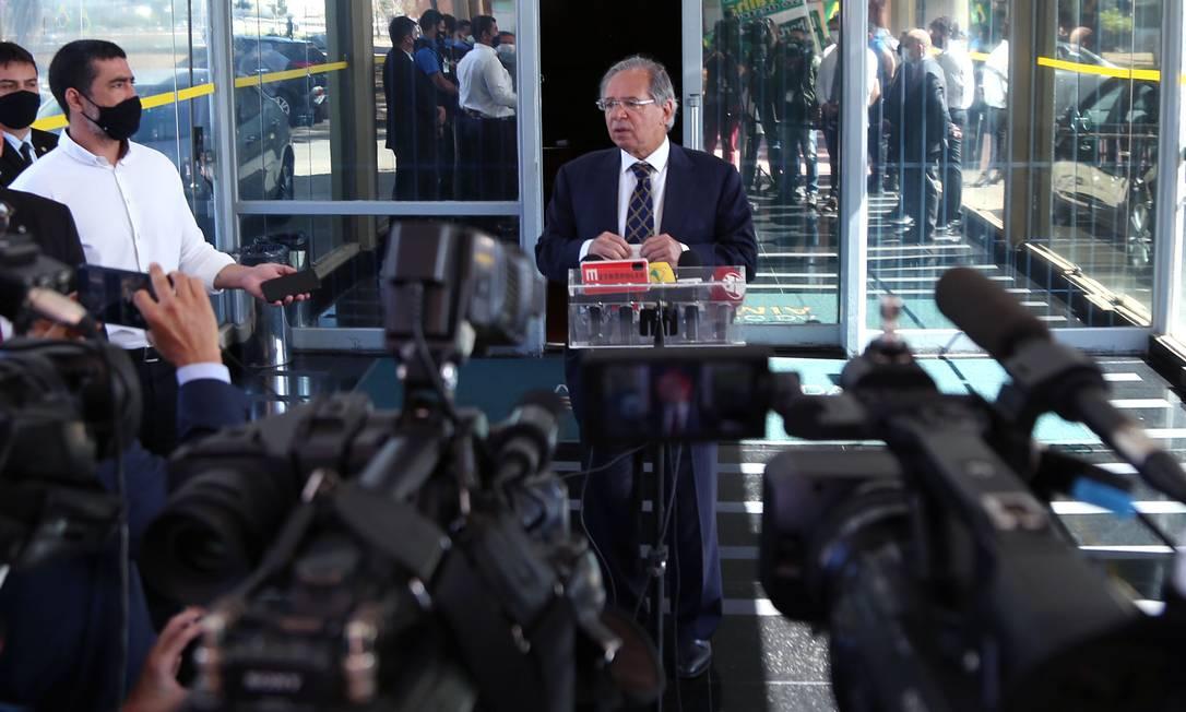 O ministro da Economia, Paulo Guedes, que discute mudança na reforma tributária Foto: Edu Andrade / Ministério da Economia
