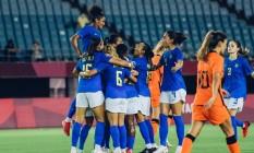 Brasil e Holanda ficam no empate no torneio feminino da Olimpíada de Tóquio Foto: Fotos: Sam Robles/CBF / Agência O Globo