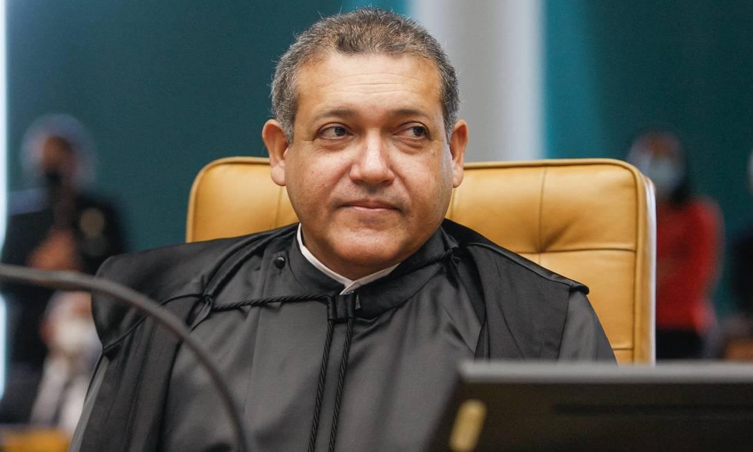 Nunes Marques defendeu que abusos da liberdade de expressão e da imprensa livre também devem ser responsabilizados Foto: Fellipe Sampaio / Agência O Globo