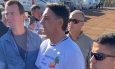 Bolsonaro falou com apoiadores na entrada do Palácio da Alvorada Foto: Reprodução Instagram