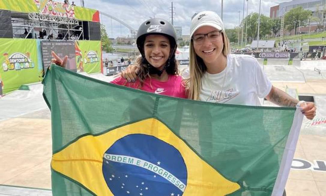 Rayssa Leal (à esquerda)e Pâmela Rosa (à direita) Foto: Agência O Globo