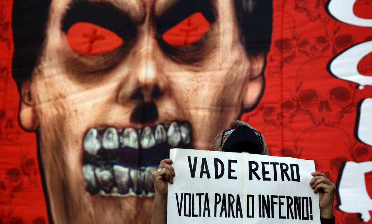 Protesto em São Paulo Foto: CARLA CARNIEL / Carla Carniel/REUTERS