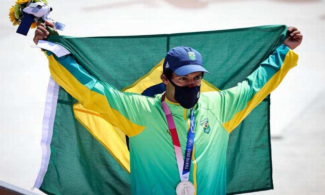 Kelvin Hoefler é o primeiro medalhista brasileiro no skate, esporte estreando nos Jogos Olímpicos Foto: Jonne Roriz/ COB