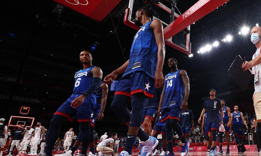 Estados Unidos perderam para a França na estreia dos Jogos de Tóquio Foto: BRIAN SNYDER / REUTERS