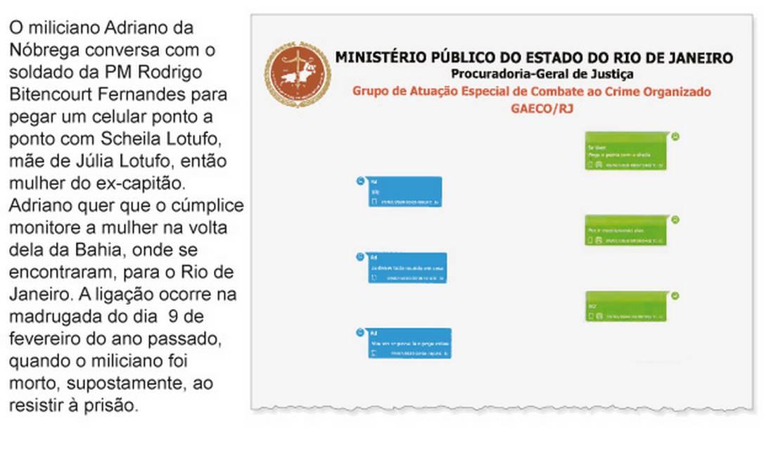 Conversa com o soldado da PM Rodrigo Bitencourt Fernandes Pereira do Rego Foto: Infografia/Agência O Globo