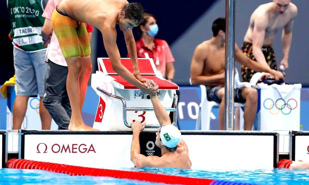 O revezamento 4x100m do Brasil performou abaixo do esperado na final Foto: Satiro Sodré/CBDA