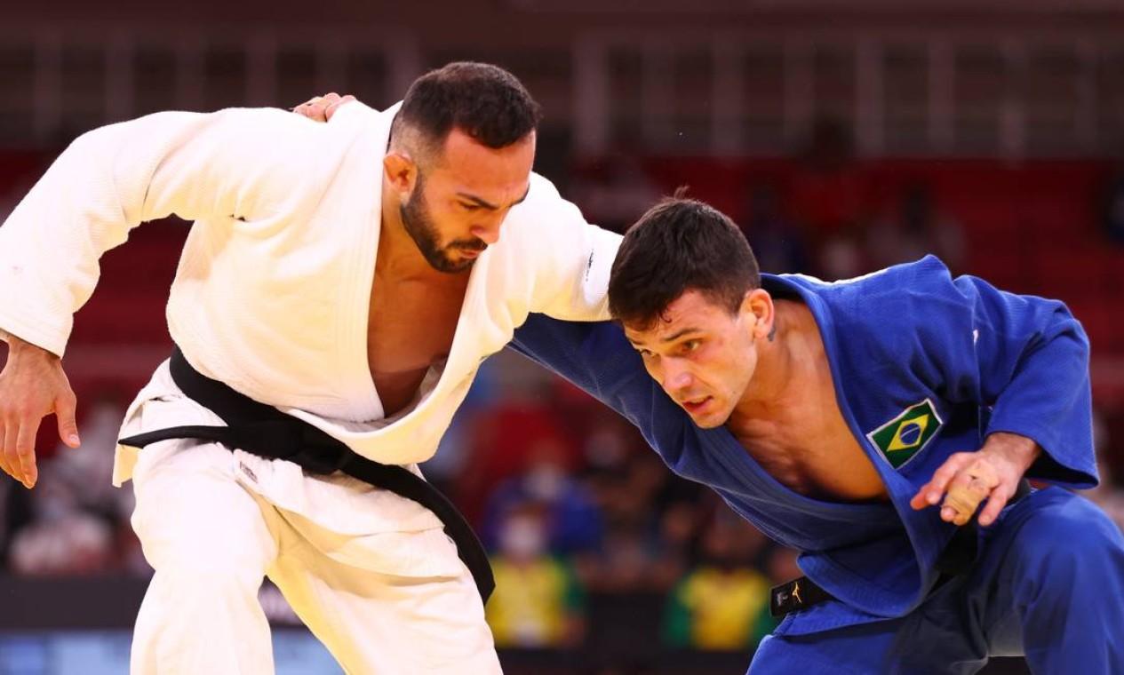 O judoca gaúcho Daniel Cargnin derrotou o israelense Baruch Shmailov na categoria masculina até 66kg e conquistou a medalha de bronze Foto: SERGIO PEREZ / REUTERS