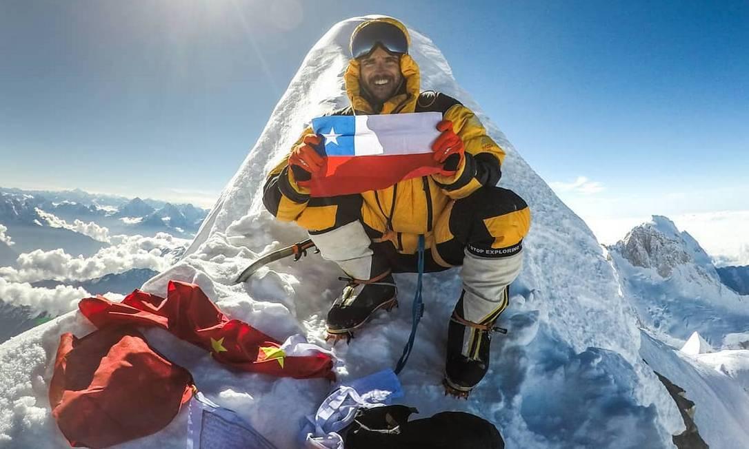 Chileno Juan Pablo Mohr estava desaparecido desde fevereiro, quando se perdeu com outros dois colegas em uma expedição na montanha paquistanesa K2 Foto: Reprodução/Instagram