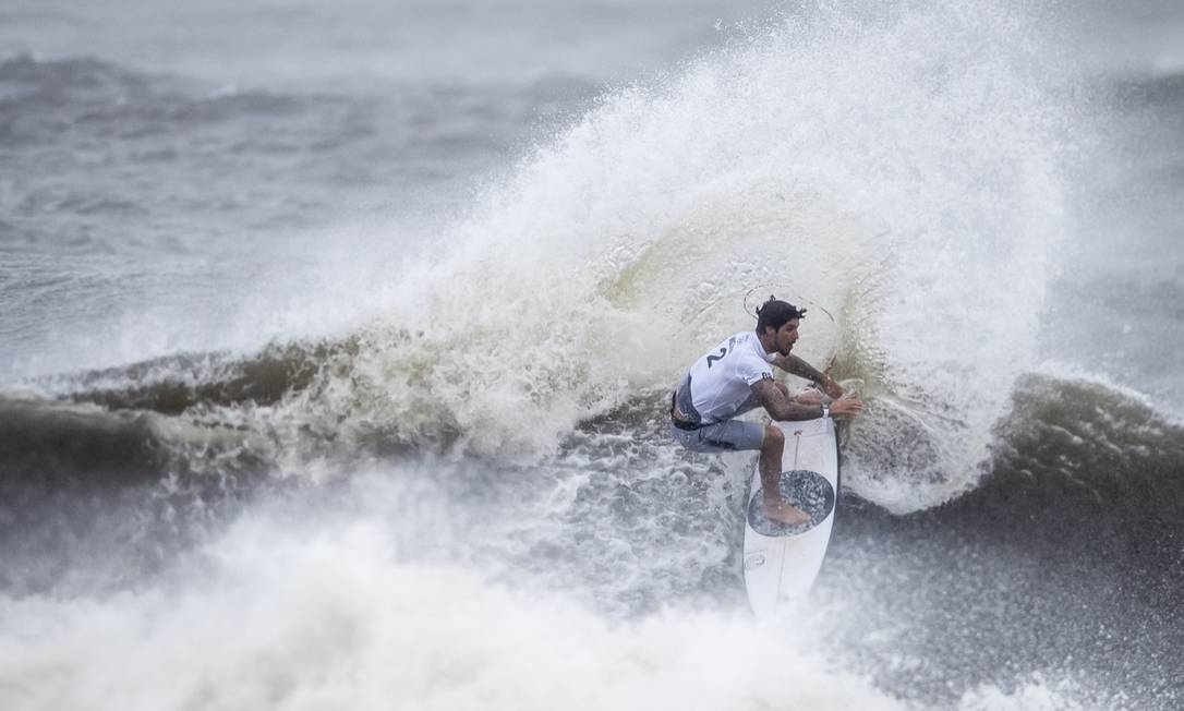 Gabriel Medina foi eliminado na semifinal do surf na Olimpíada. Foto: Jonne Roriz/COB