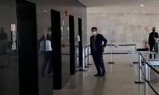 Ciro Nogueira chega ao Planalto para discutir com Bolsonaro posse como ministro da Casa Civil Foto: Reprodução/ Vídeo G1