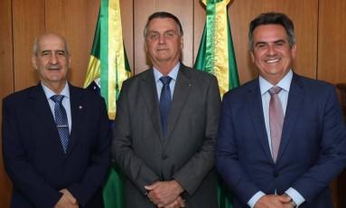 Ex-ministro da Casa Civil, Luiz Eduardo Ramos, dá lugar ao líder do Centrão, Ciro Nogueira Foto: Reprodução/Twitter