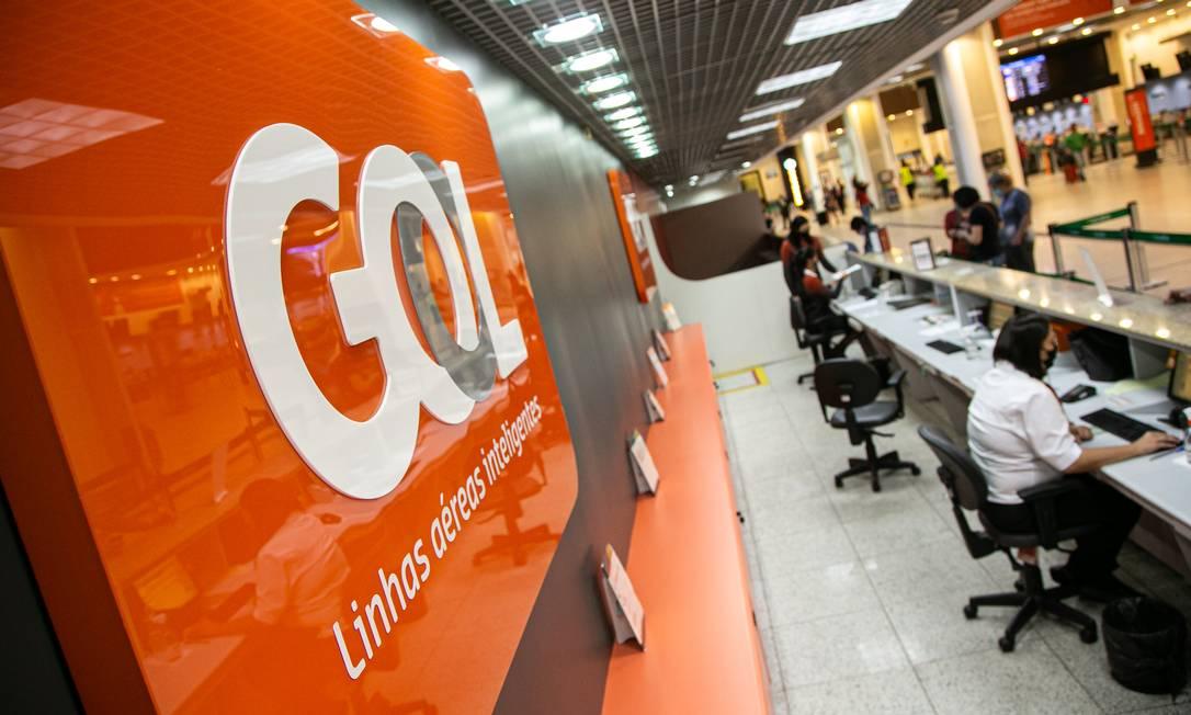 Balcão da GOL no Aeroporto Santos Dumont, no Rio Foto: Hermes de Paula / Agência O Globo