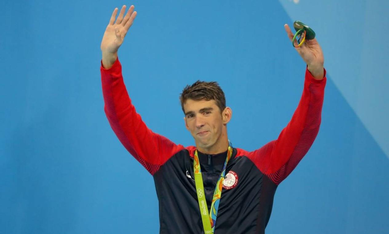 O ex-nadador Michael Phelps revelou, em 2018, que luta contra a depressão e pensou em suicídio depois de Londres-2012 Foto: Pedro Kirilos / Agência O Globo