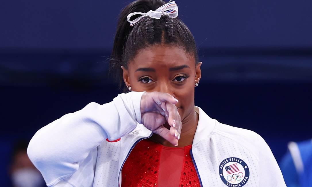 A ginasta Simone Biles desistiu de competição para se concentrar em sua saúde mental Foto: Mike Blake / Reuters