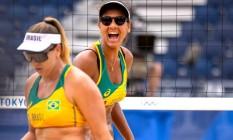 Ana Patrícia e Rebecca, dupla do vôlei de praia Foto: Miriam Jeske/COB