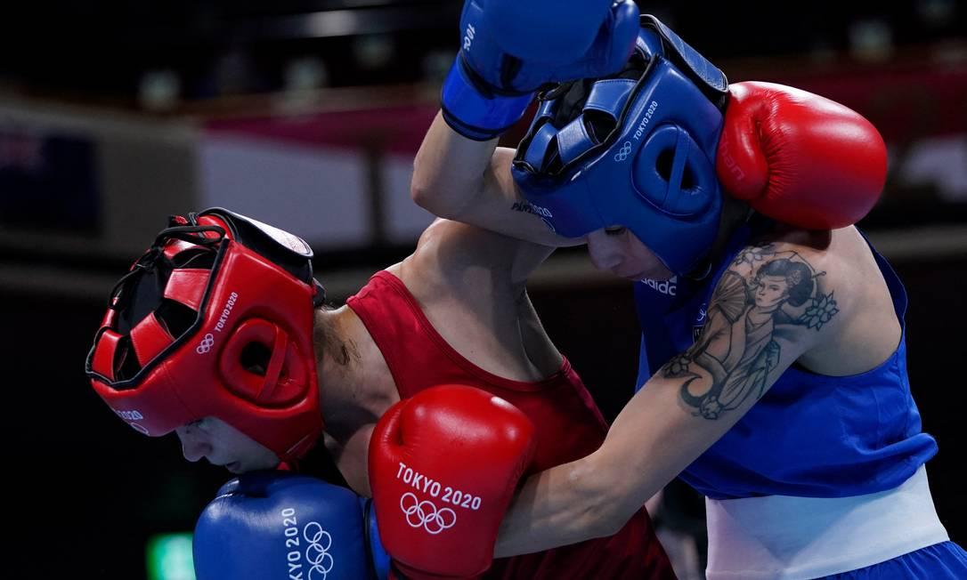 La boxeadora italiana Irma Testa Foto: Frank Franklin II / AFP
