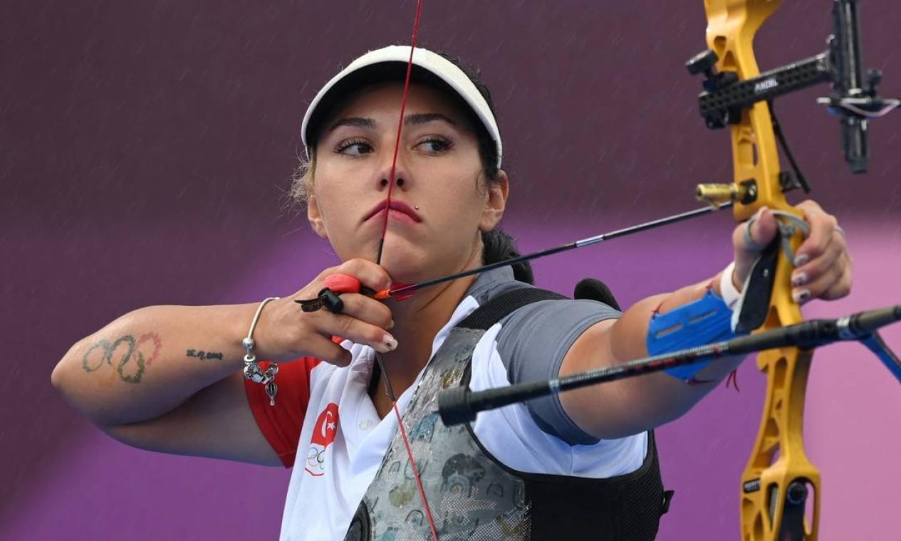 Alexandra Mirca, da Moldávia Foto: ADEK BERRY / AFP