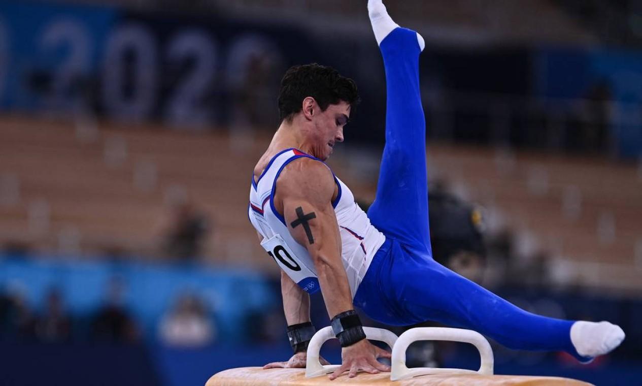 O ginasta russo Artur Dalaloyan Foto: LOIC VENANCE / AFP