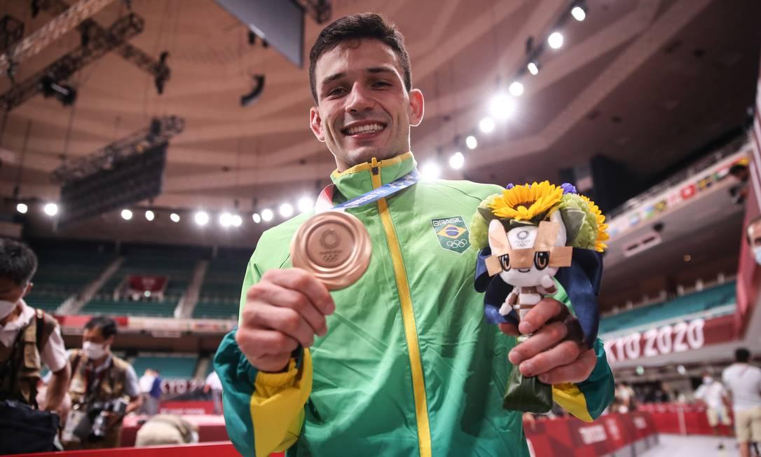 Daniel Cargnin conquistou medalha de bronze no judô Foto: Gaspar Nóbrega / COB / Divulgação / Gaspar Nóbrega / COB / Divulgação