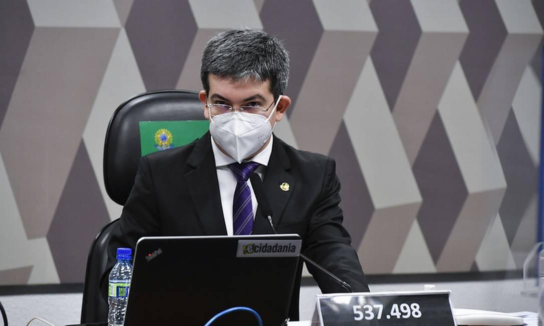 O vice-presidente da CPI, senador Randolfe Rodrigues, durante sessão da comissão Foto: Leopoldo Silva/Agência Senado/15-07-2021