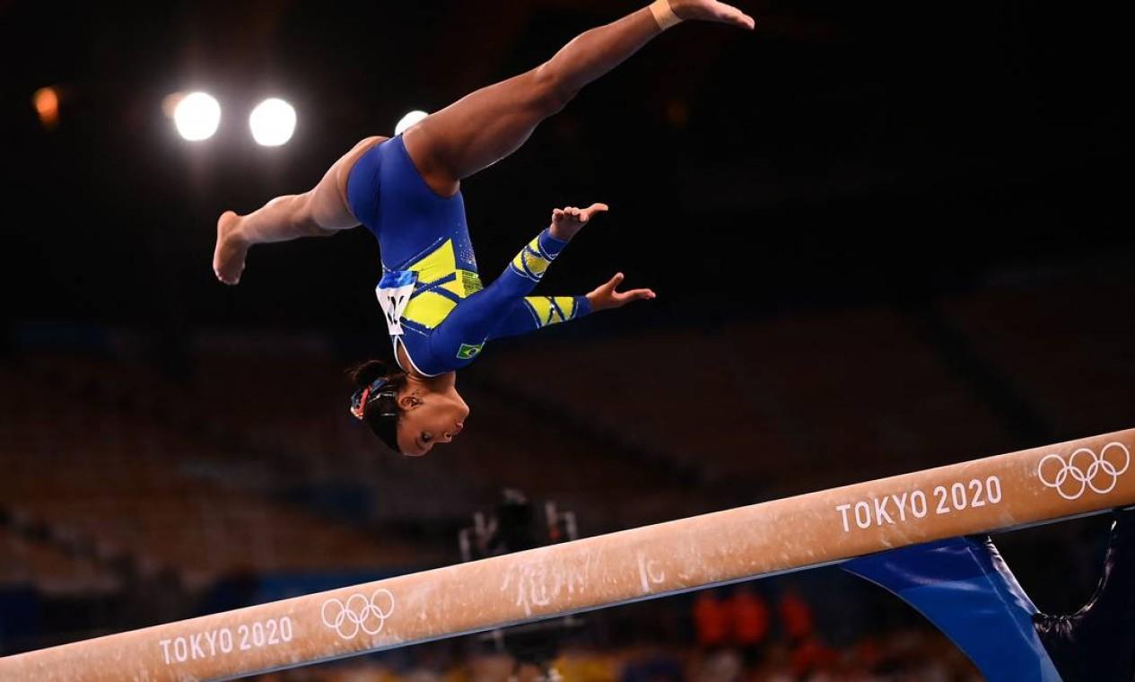 Rebeca, de 22 anos, fez história ao conquistar a primeira medalha olímpica feminina Foto: LOIC VENANCE / AFP
