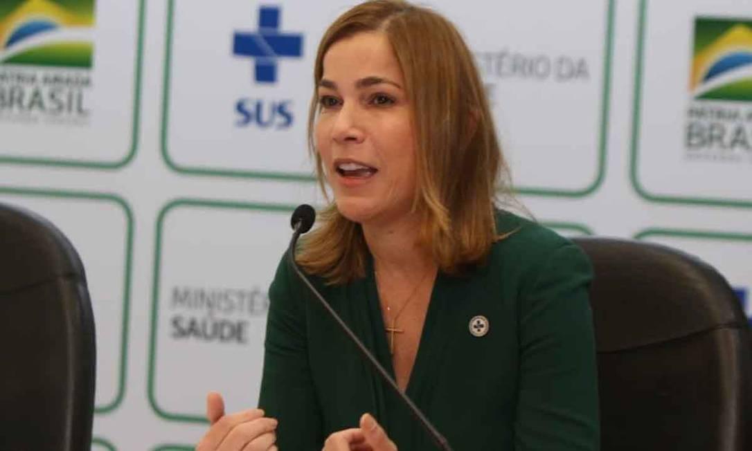 A secretária do Ministério da Saúde Mayra Pinheiro, conhecida como 'Capitã Cloroquina' Foto: Ministério da Saúde