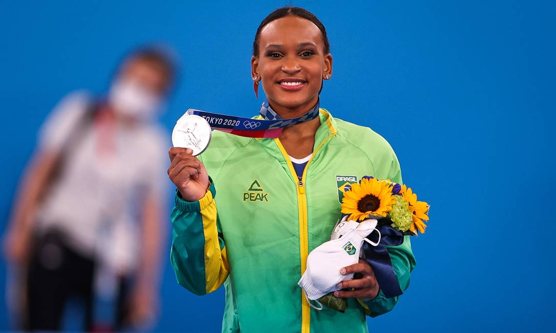 Rebeca Andrade conquista a medalha de prata na ginástica nos Jogos de Tóquio Foto: Jonne Roriz/COB