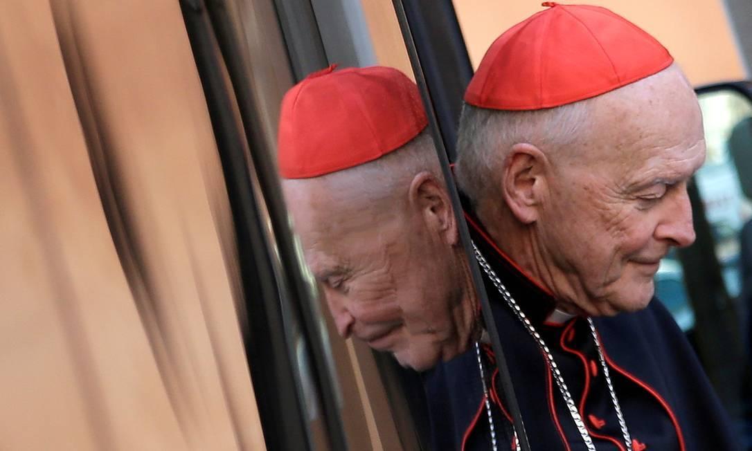 O ex-cardeal Theodore Edgar McCarrick chega ao Vaticano, em 2013 Foto: Max Rossi / REUTERS