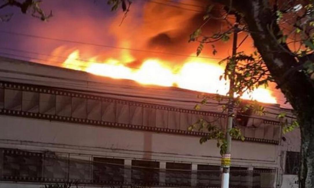 Cinemateca, em São Paulo, foi atingida por incêndio Foto: Twitter / Reprodução